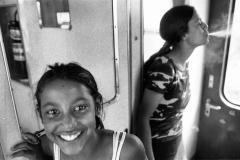 Dans le train-Grece 2004